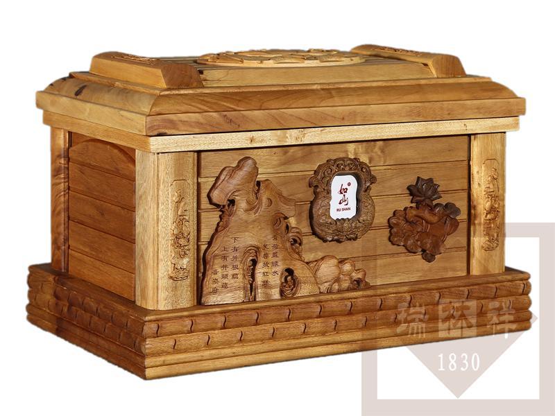 青莲金丝楠木骨灰盒