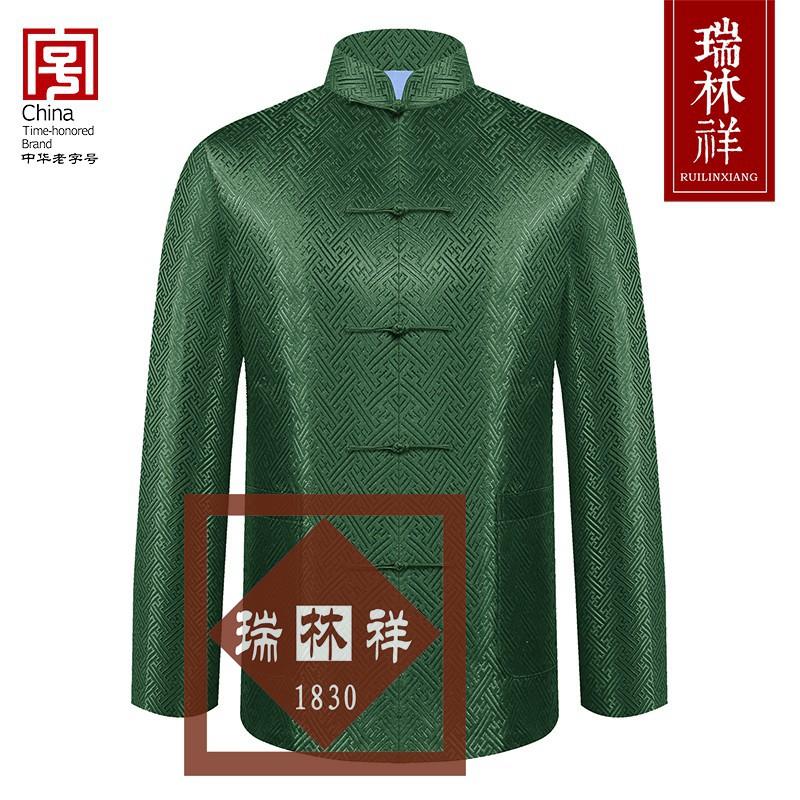男式桑蚕丝寿衣全套绿1号