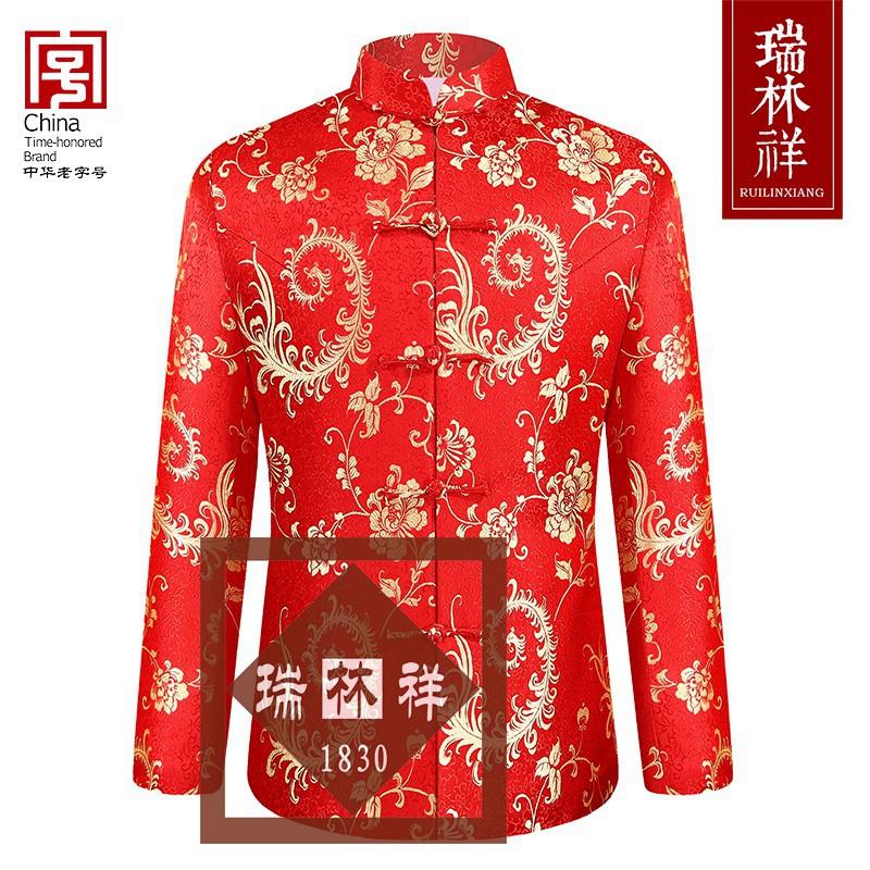 女式桑蚕丝寿衣全套红24号