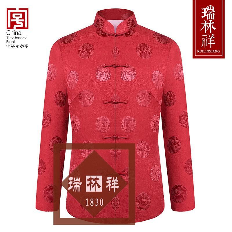 女式桑蚕丝寿衣全套红17号