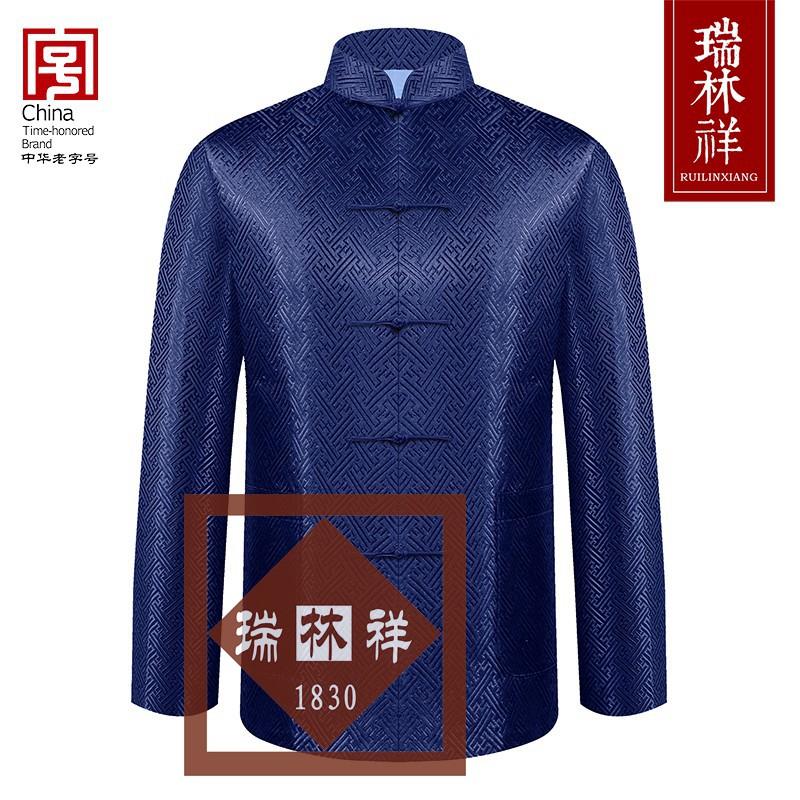 男式桑蚕丝寿衣全套兰6号