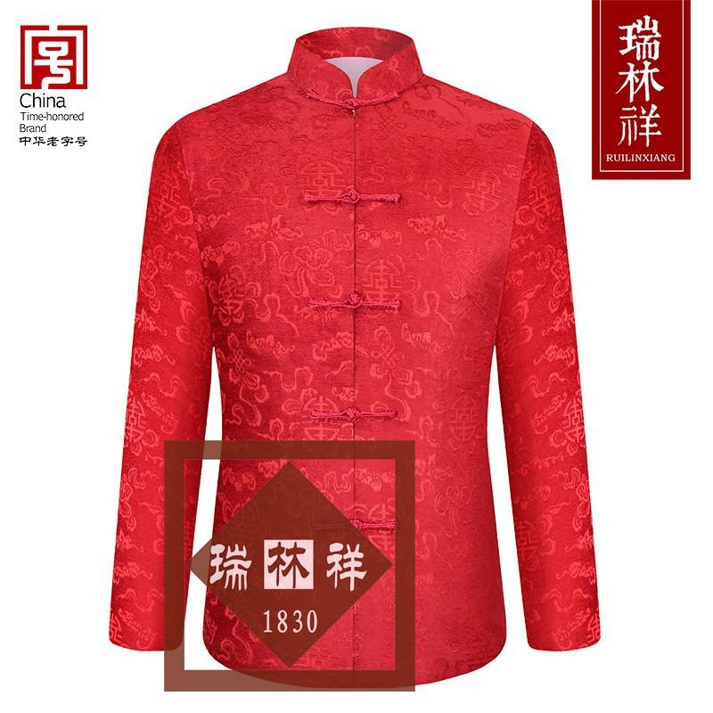 女式桑蚕丝寿衣全套红27号