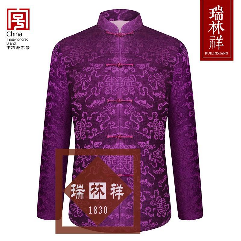 女式桑蚕丝寿衣全套紫14号