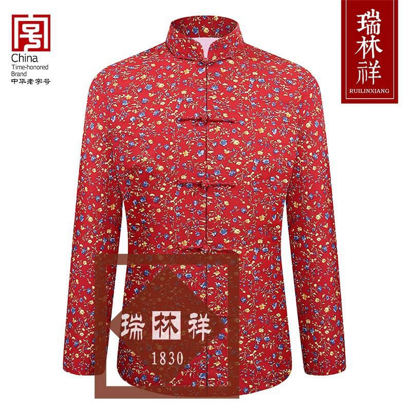 女式纯棉寿衣全套红6号