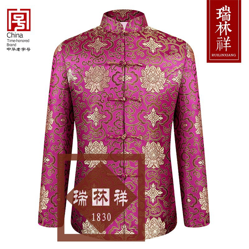 女式仿蚕丝寿衣全套紫12号