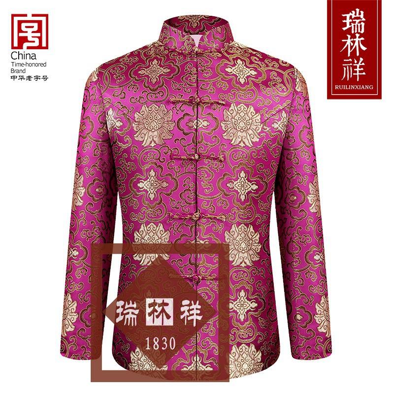 女式桑蚕丝寿衣全套紫12号
