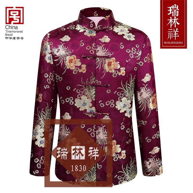 女式桑蚕丝寿衣全套紫5号
