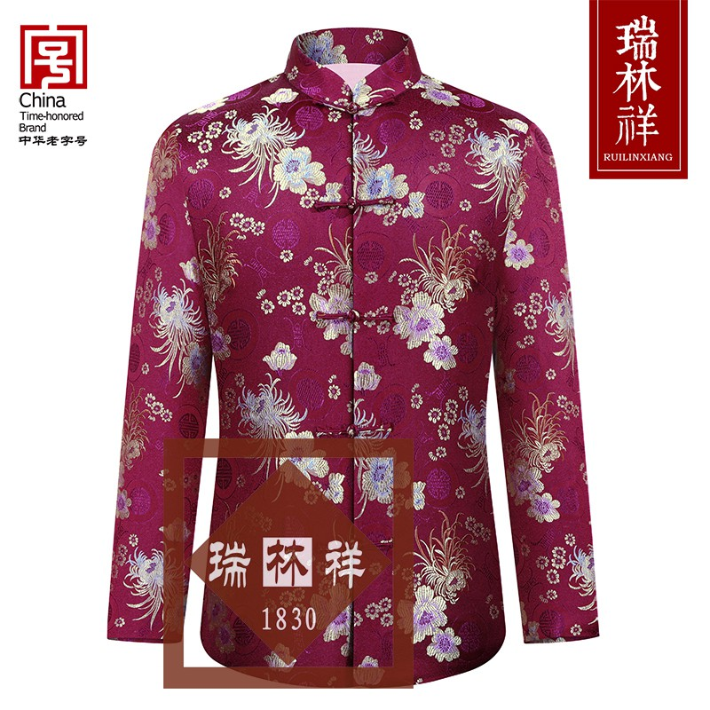 女式仿蚕丝寿衣全套紫5号